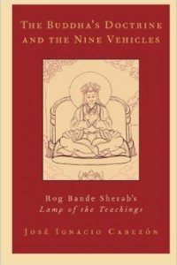 bookcover of Jose Cabezon's The Buddha's Doctrine and the Nine Vehicles: Rog Bande Sherab's Lamp of the Teachings""