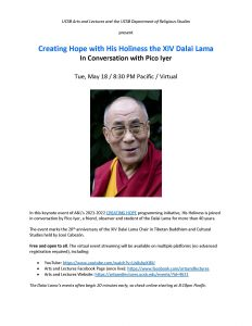 Creating Hope with His Holiness the XIV Dalai Lama In Conversation with Pico Iyer @ Virtual
