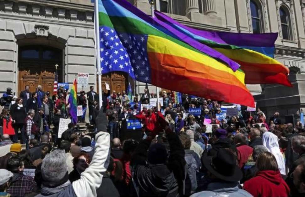 Indiana Religious Freedom demonstrations